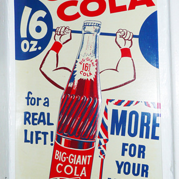 Big Giant Cola 16oz Tin Sign - Signs