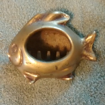 Nice brass fish ashtray