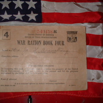 WW 2 Ration Book - Military and Wartime