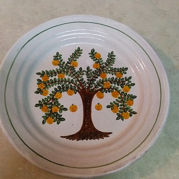FRUIT TREE REDWARE PLATE