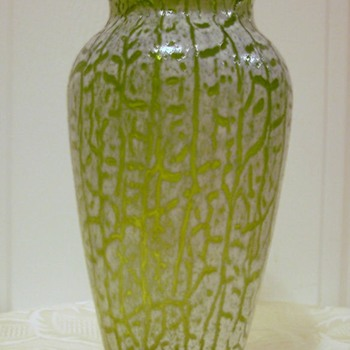 Mystery Cracquelle Vase - Art Glass