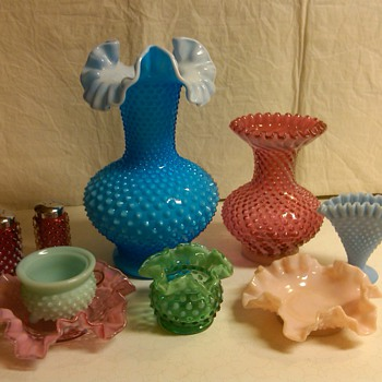 MORE OF MY FENTON HOBNAIL COLLECTION - Glassware
