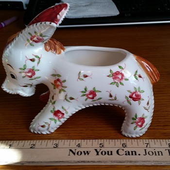 Floral Pattern Donkey Planter with Mystery N/C Logo