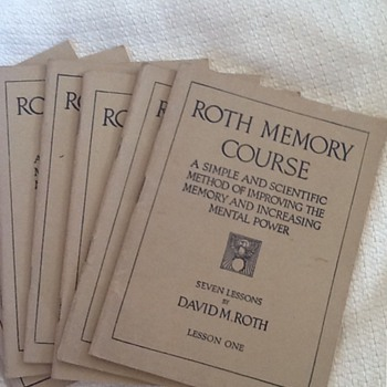 Roth memory course books - Books