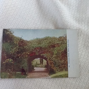 Vintage post card from Central Park