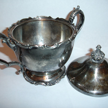 Silver Sugar Bowl -...ACE BROS SILVER   PLATE L2