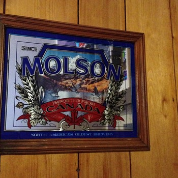 Molsen Canada rectangular bar mirror - Breweriana