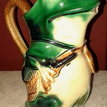 AN ORCHIES SAINT AMAND HAMAGE, BARBOTINE PICHET - THE HUNTING FROG - Art Pottery