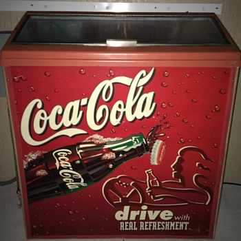 Coca Cola glass top refrigerator