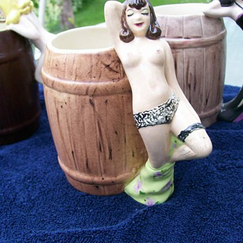 Vintage Pin Up girl Mugs  - Art Pottery