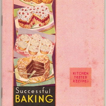 1933 - Successful Baking Recipe Book - Books