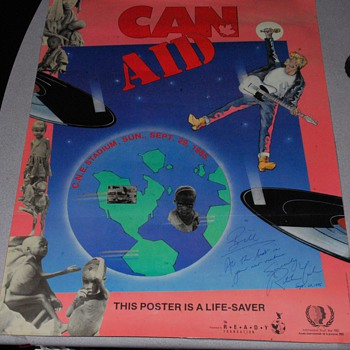 Can-Aid C.N.E Stadium 1985 signed Ritchie Yorke - Music