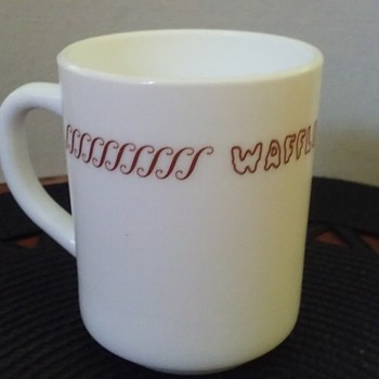WAFFLE HOUSE restaurant coffee cup