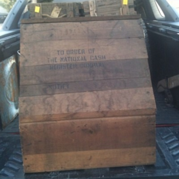 National Cash Register Shipping Crate - Advertising