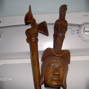 Native American Hand Carved Wood Sculptures