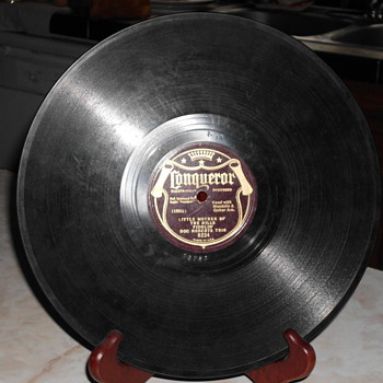 1920's  hard vinyl records