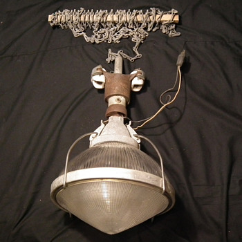 Industrial Holophane Luminaire Pendant