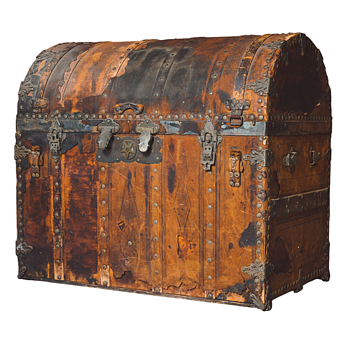 Ornate Bridal Trunk needs I.D. - Purportedly owned by Sarah Bernhardt; needs provenance.