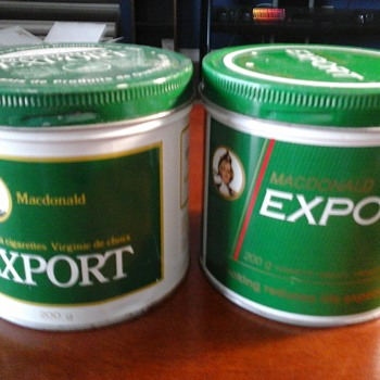 MacDonald Export tins