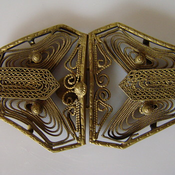 Art Nouveau filigree buckle 2