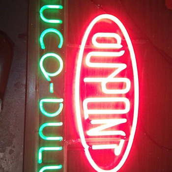 Very old Dupont Duco/Dulux neon sign