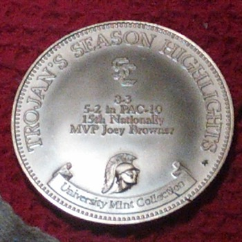 1982 SC Trojans MVP Football coin