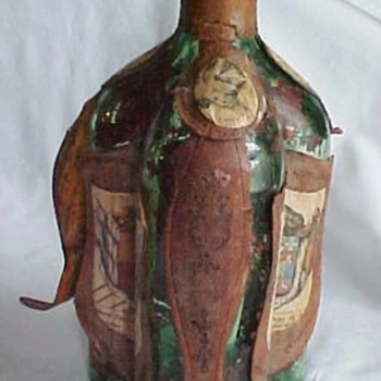 Green 3 chamber bottle