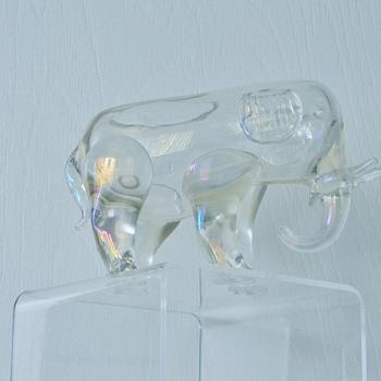 Rare Loetz Crystal Elephant Iridescent Vase Bowl