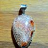 Strange stone and silver pendant
