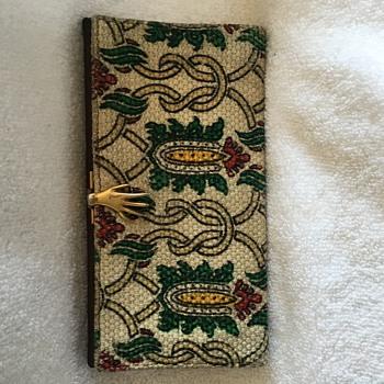 Rare Vintage Gucci 1960s Leonardo Cloth Hand Clasp Wallet - Bags