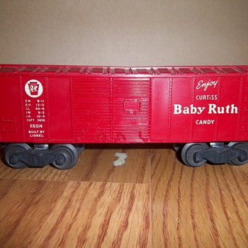 Lionel Trains Collection- 'Enjoy Curtiss Babe Ruth Candy' x6014 Red Box Car - Model Trains