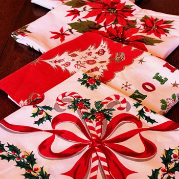 Vintage Christmas Tablecloths - Christmas