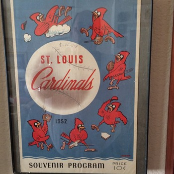 ST. Louis Cardnials 1952 Program