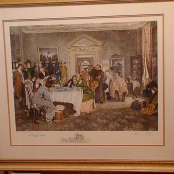 """London To York Times Up Gentlemen"" Walter Dendy Sadler Print Signed In Pencil 32.5 x 28"" - Visual Art"