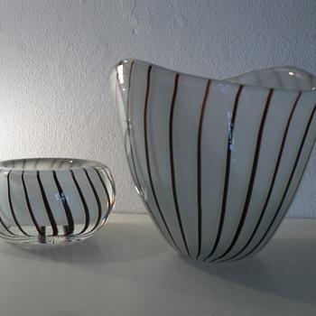 Gunnar Nylund Vase & Bowl, Strombergshyttan.