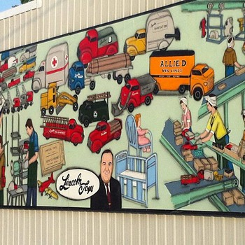 Lincoln Toys Mural  Tilbury , Ontario. Canada - Advertising