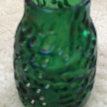Green Art Glass Loetz type Vase