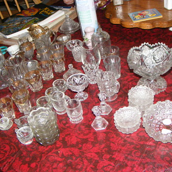 children cut glass dishes