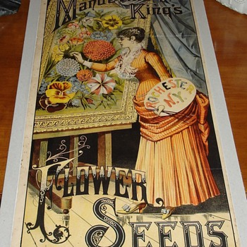 Mandeville and King Flower Sign - Advertising