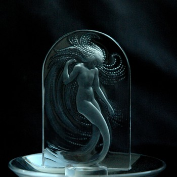 "french art deco lovely maiden ashtray ""NAIADE"" by RENE LALIQUE - Art Deco"