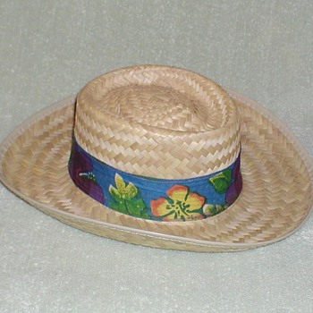 Men's Straw Hat with Tropical Band