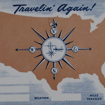 Help with a Litho in USA postcard, please: looks to be a sort of travel log postcard