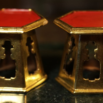 Laquered and Gilded Wooden Stands from Japan or China? - Asian
