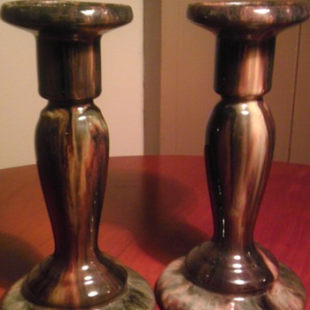 Brush mccoy candle sticks - Art Pottery