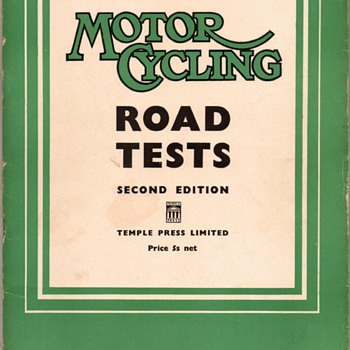 "1953 - ""Motor Cycling"" Road Tests - Book"
