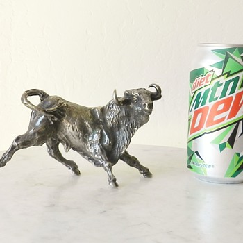 "Solid Silver? Bucking Bronco Signed ""cob@ or cobo"" and CA? - 2lbs3oz"