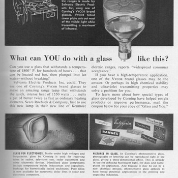 1953 - Corning Glass Advertisement - Advertising