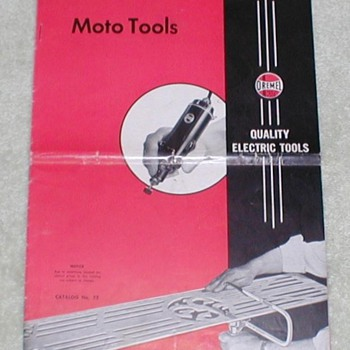 Dremel Moto-Tools Catalog - Paper