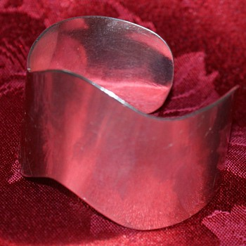 Wide Mexican Silver Bangle - Fine Jewelry