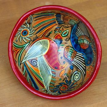 Ceramic Tri-pod Bowl Antonio Rivera Style - Art Pottery